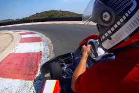 cheste karting on board