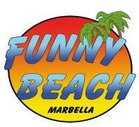 funny beach logo