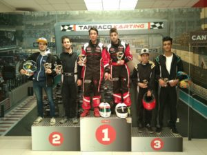 Tarraco karting podium 1Hora