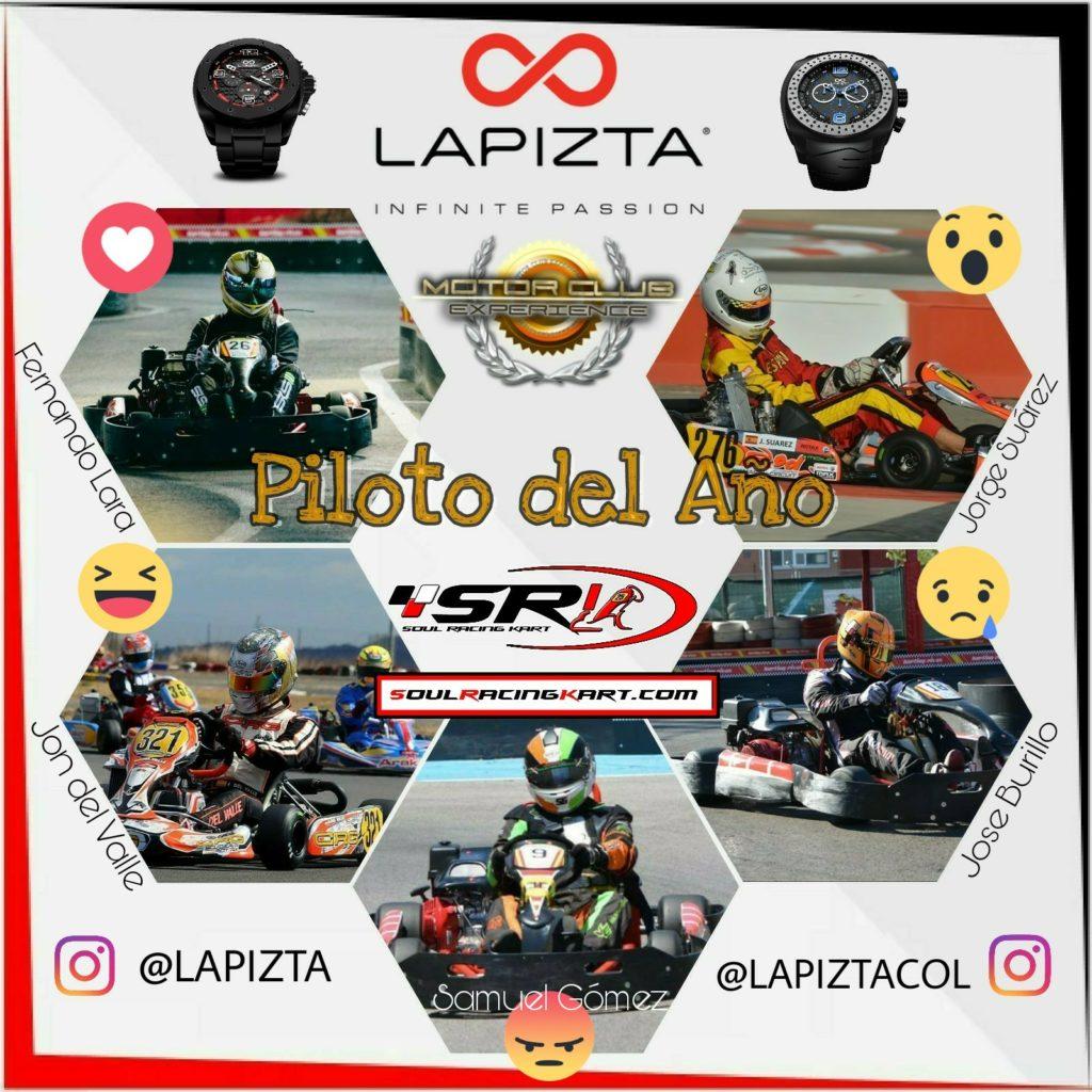 Piloto del Año 2017 Karting 4T